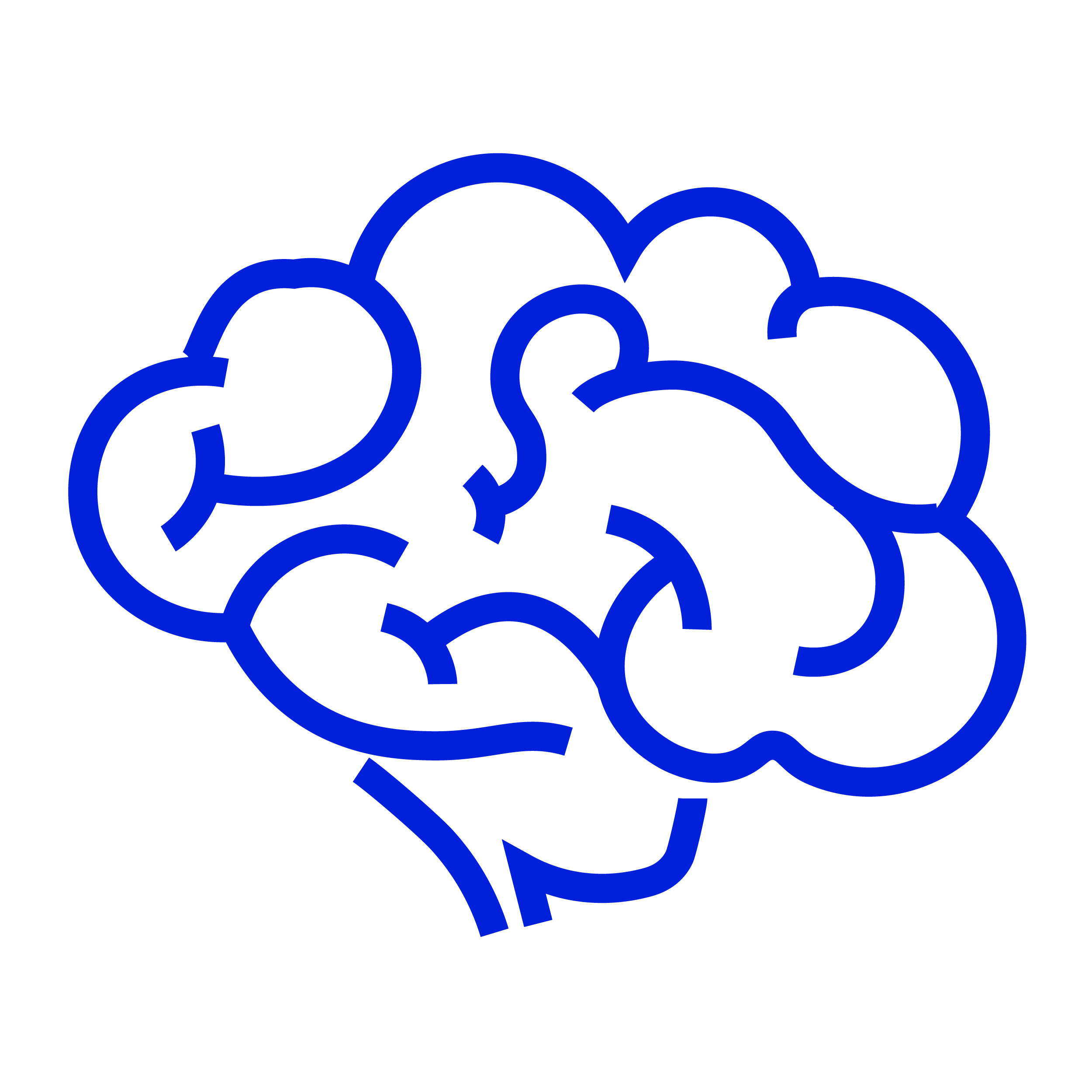 outline of brain icon