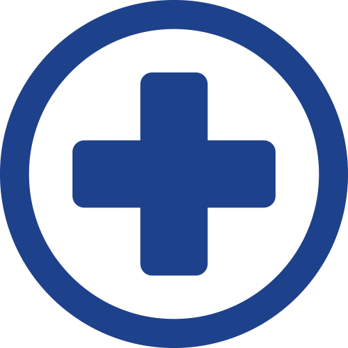 encircled medical cross icon