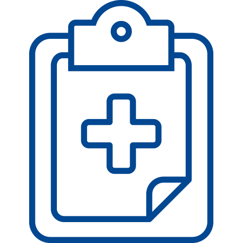 clipboard with medical cross icon